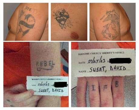 Fotos da polícia de Nova York mostram as tatuagens de dois presos que fugiram de uma prisão localizada no norte do estado norte-americano