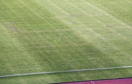 Desenho de suástica no gramado do Estádio Poljud, em Split, causou polêmica