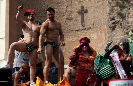 Parada Gay de Roma aconteceu neste sábado