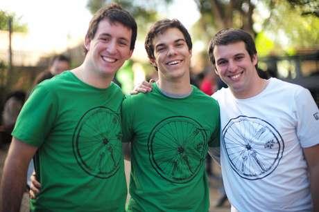 Lucas Mello, Victor Castello e André Biselli, sócios da paulista Courrieros