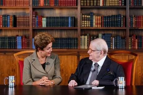 Jô Soares entrevistou Dilma na madrugada de sábado (13)