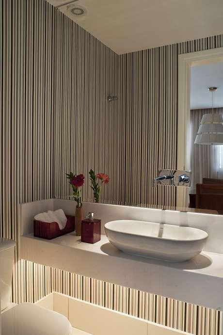 decoracao lavabo branco:Lavabo: veja 8 dicas para decorar e ampliar o banheiro