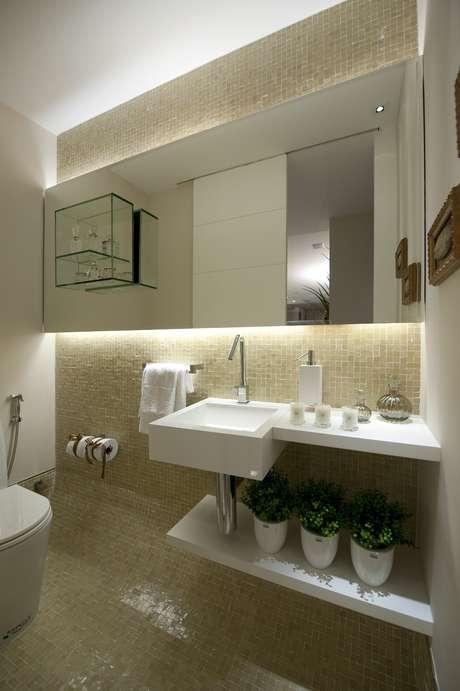 Lavabo veja 8 dicas para decorar e ampliar o banheiro -> Ampliar Banheiro Pequeno