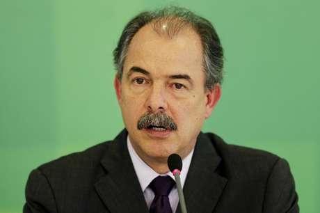 Ministro-chefe da Casa Civil, Aloizio Mercadante, durante entrevista coletiva em Brasília.  24/03/2015