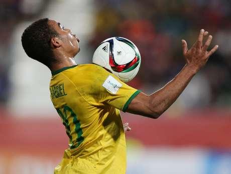 Gabriel Jesus durante a partida
