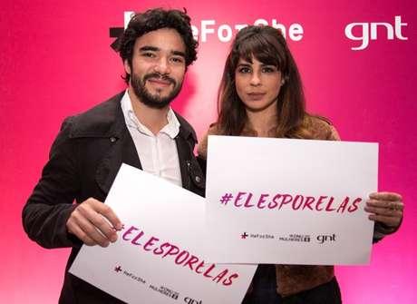 O casal Caio Blat e Maria Ribeiro declararam seu apoio à campanha