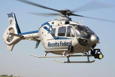 Helicóptero utilizado pela Receita para promover a autorregularização