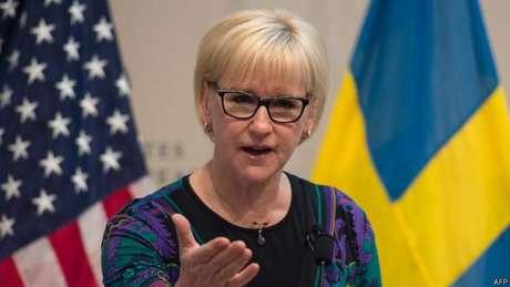 A ministra das Relações Exteriores, Margot Wallström, é a responsável pela política feminista da Suécia