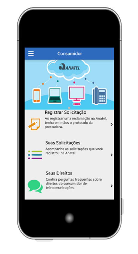 Aplicativo facilita o registro de reclamação na Anatel