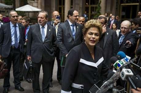 Presidente Dilma Rousseff fala aos jornalistas em Nova York.  29/6/2015.