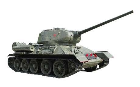 Modelo de um tanque de guerra russo, que pode servir de carruagem aos noivos na Rússia