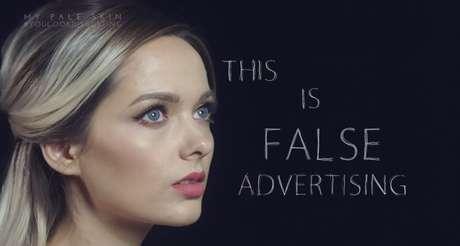 """Mas muitos criticaram o fato de usar maquiagem, dizendo """"isso é propaganda enganosa"""""""