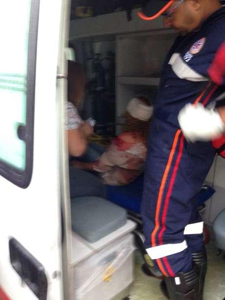 Carla Valéria estava com muito sangue na roupa quando foi resgatada pelo Samu