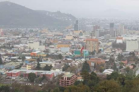 Vista da cidade de Temuco: hospitalidade faltou em alguns momentos no lugar que recebeu o maior evento da sua história com a vinda da Seleção Brasileira
