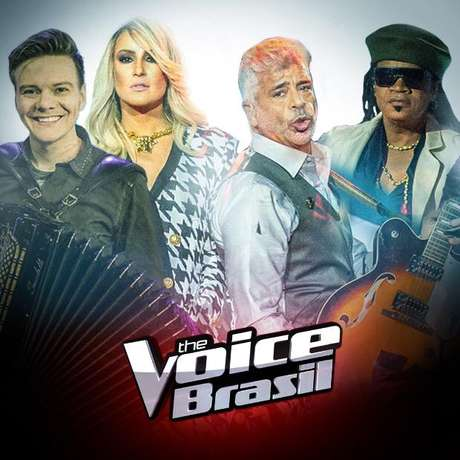 Montagem postada no Twitter por Boninho com Michel Teló como novo jurado do The Voice Brasil