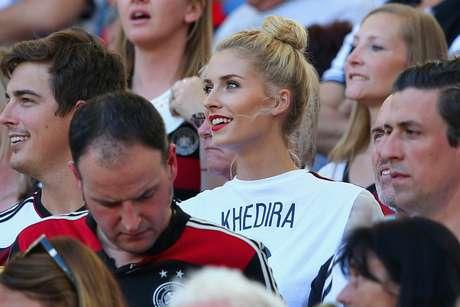 Lena Gercke veio ao Brasil assistir ao então namorado Khedira ser campeão do mundo