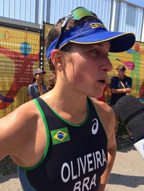 Pâmella Oliveira, do triatlo, se decepcionou com resultado final