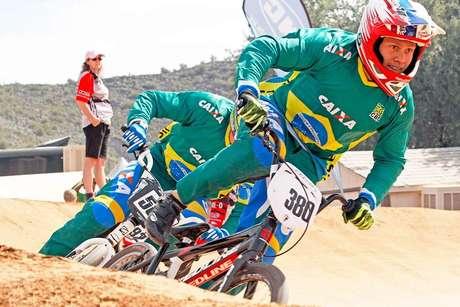 Seleção Brasileira de BMX, em foto de arquivo competindo nos EUA