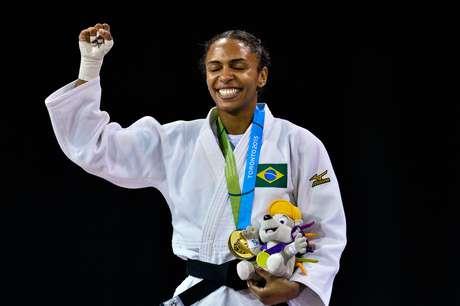 Érika Miranda garantiu o primeiro ouro para o Brasil no Pan