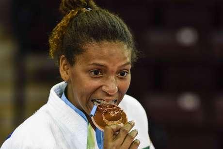 Rafaela Silva ficou com o bronze no Pan de Toronto