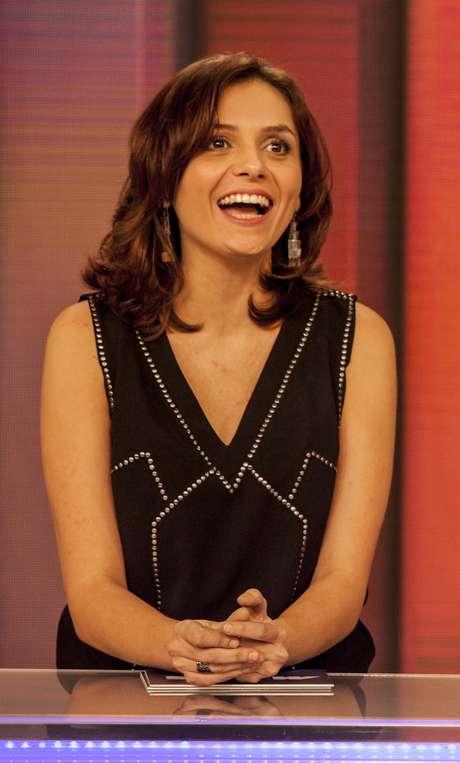 O cabelo castanho na altura dos ombros da apresentadora Monica Iozzi, do 'Vídeo Show', ficou em quarto lugar