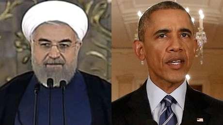 O presidente do Irã, Hassan Rouhani, e o dos EUA, Barack Obama, anunciaram o acordo praticamente ao mesmo tempo nesta terça-feira.