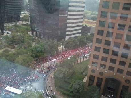 Grupo seguiu em marcha até o Palácio dos Bandeirantes