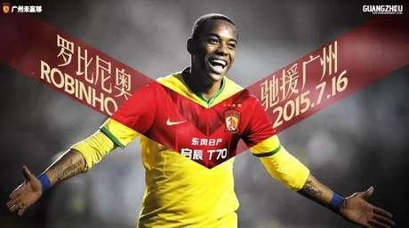 Robinho é reforço do Guangzhou Evergrande