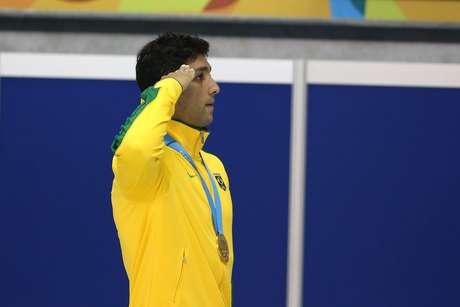 Thiago Simon foi ouro nos 200 m peito