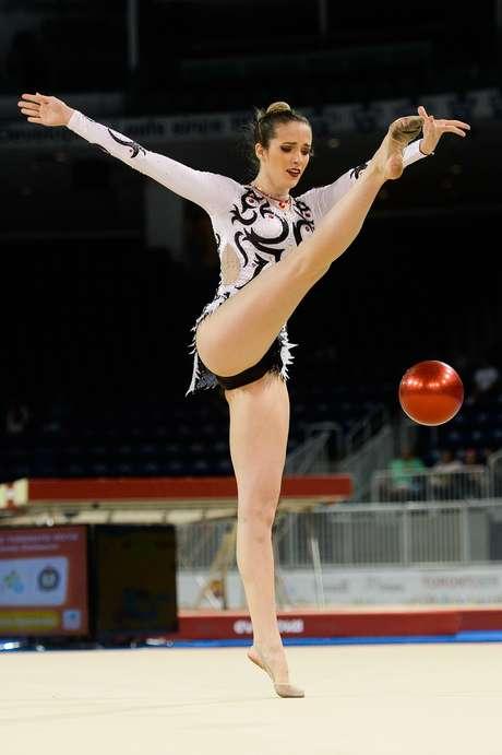 Brasileira Natália Gaudio competiu na prova individual