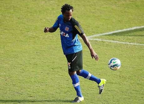 Andrézinho durante treino do Vasco hoje a tarde em São Januário.