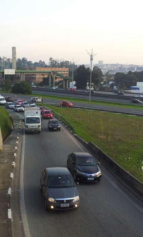 Tráfego foi desviado para avenida Lions, em São Bernardo do Campo