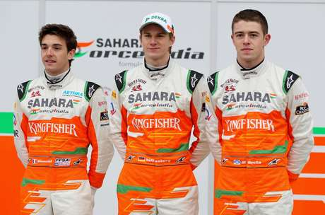 Jules Bianchi (esq.) foi cedido pela Ferrari à Force India em 2012