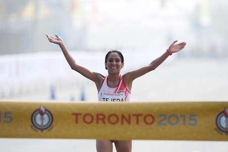 Gladys Tejeda, do Peru, venceu prova e bateu recorde do Pan-Americano