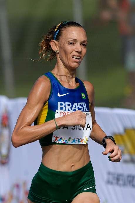 A atleta brasileira Adriana da Silva, que foi ouro em Guadalajara 2011, ficou com a prata