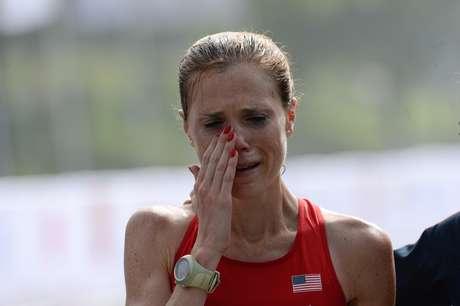 Atleta norte-americana ficou com bronze e foi amparada por sua técnica ao fim da competição
