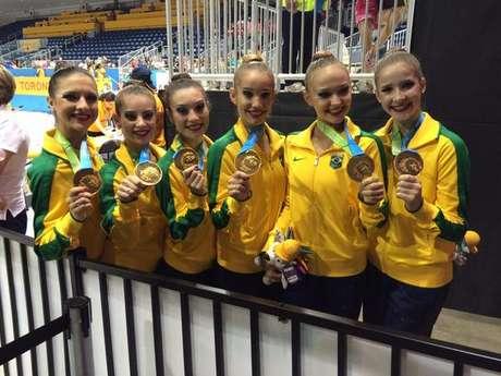 É o segundo ouro da Brasil na ginástica rítmica