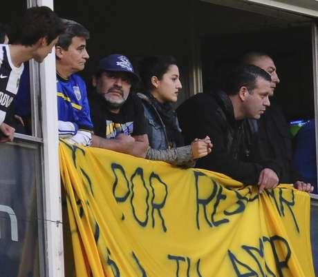 Maradona esteve na Bombonera para prestigiar Tévez