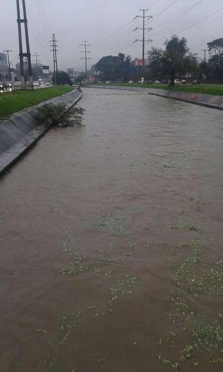 Arroio Dilúvio registrado pela Brigada Militar na manhã desta segunda-feira