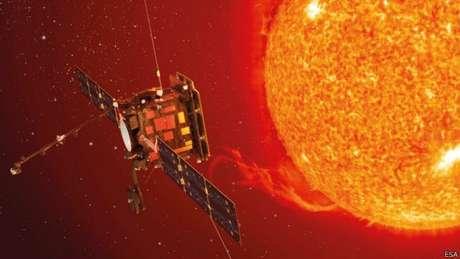 Esta ilustração mostra como será a Solar Orbiter, que será lançada na direção do sol em 2018