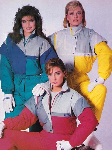 Macacão colorido, acredite, era moda nos anos 80