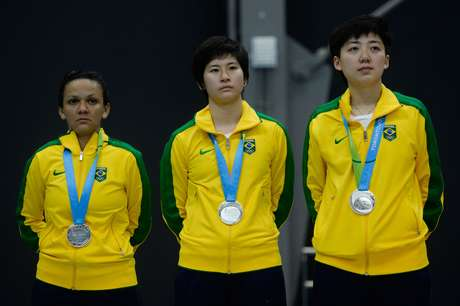 Lin Gui, Caroline Kumahara e Ligia Silva disputaram a medalha de outro no tênis de mesa por equipes dos Jogos Pan-Americanos de Toronto contra o time dos Estados Unidos