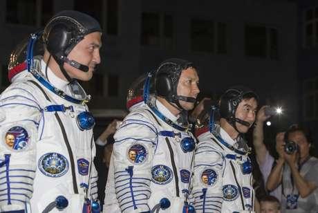 A missão conta com um astronauta russo, um americano e outro japonês