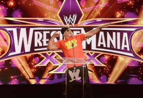 Hulk Hogan foi um dos apresentadores do Wrestlemania de 2014