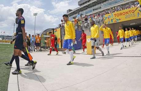Brasil e Panamá se enfrentaram no Estádio de Hamilton, no Canadá