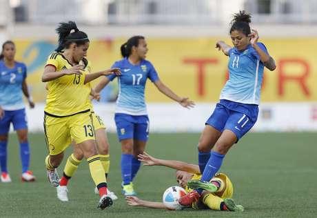 Brasil dominou a Colômbia e venceu por 4 a 0 em Hamilton