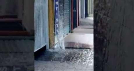 Leitor registrou imagens de um dos vazamentos