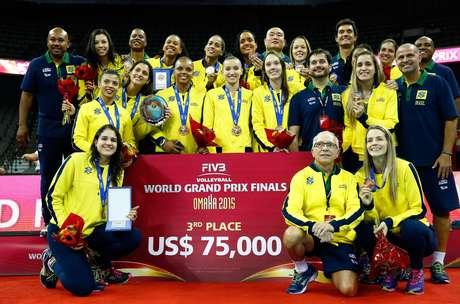 Seleção Brasileira feminina de vôlei terminou o Grand Prix na terceira colocação