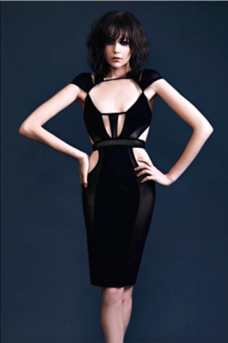 Vestido usado por modelo na foto de divulgação da marca da estilista Bao Tranchi, que atua também como figurinista de cinema