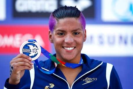 Prata em 2013, Ana Marcela ficou com o bronze na prova dos 10 km